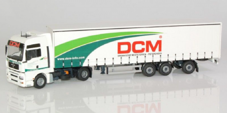 Tekno MAN TGA-XXL tractor with curtainside semitrailer DCM